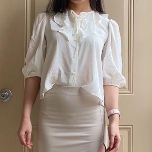 Wilfred Frida Ruffled 100% silk blouse